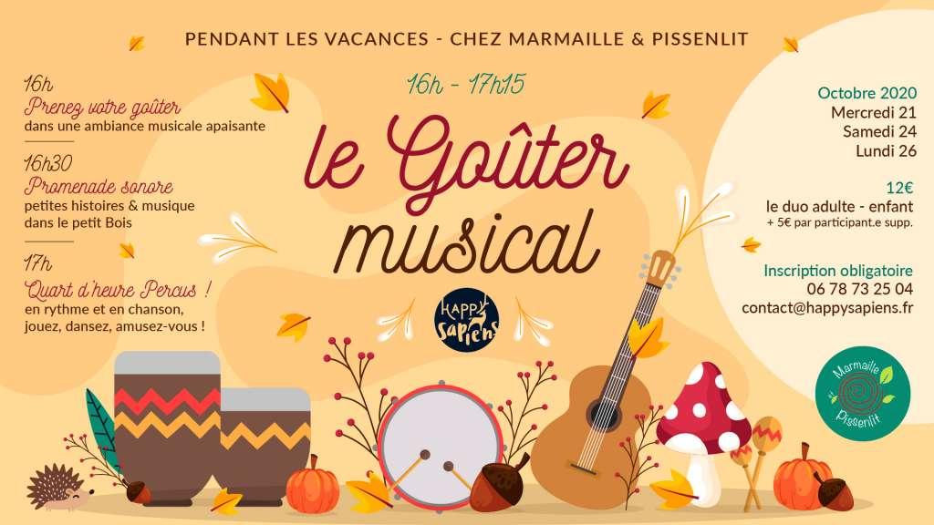 Le Goûter Musical en plein air chez Marmaille et Pissenlit